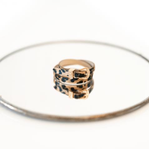 Bracelets Ines 1 Hairon Leo Beige Buckle Rose Gold