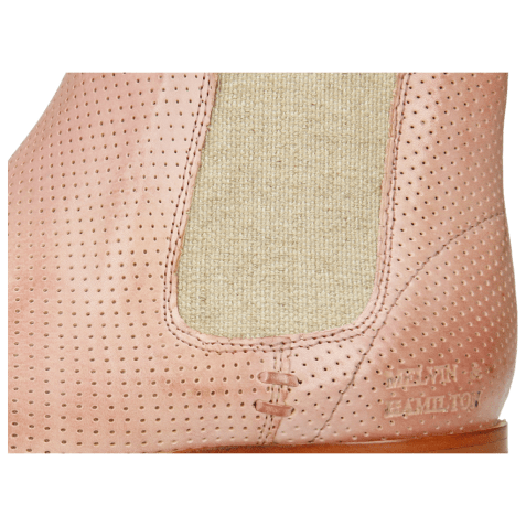 Bottines Susan 10 Imola Perfo Pale Rose Elastic Lino