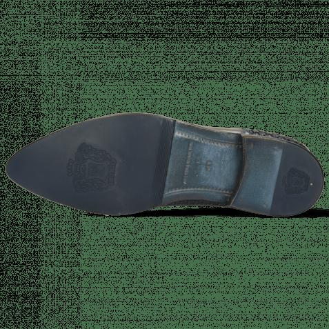 Richelieu Toni 44 Mesh Stone Navy Patent Black