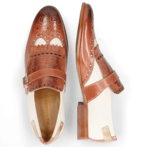Mocassins Clint 26 Earthly Canvas Off White Crock Natural