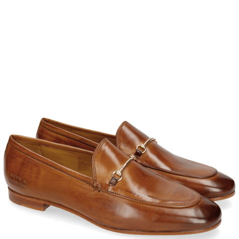 Mocassins Scarlett 1 Tan Trim Gold