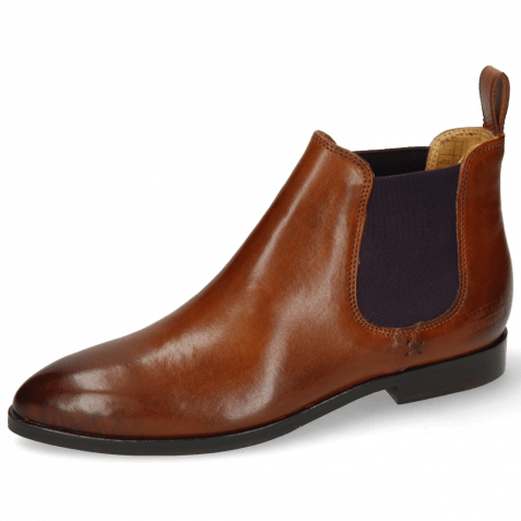 Bottines Jessy 1 Wood Elastic Purple Lining Nappa