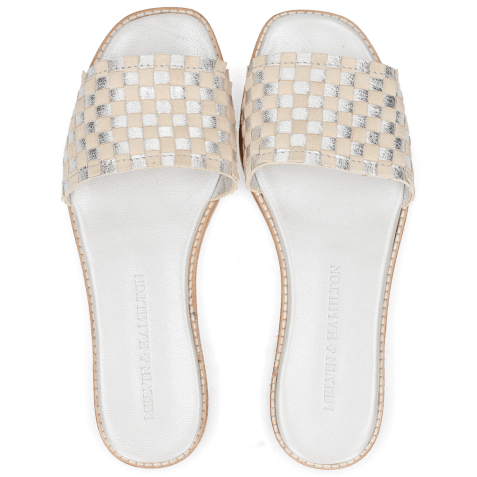 Mules Elodie 12 Woven Cherso Silver