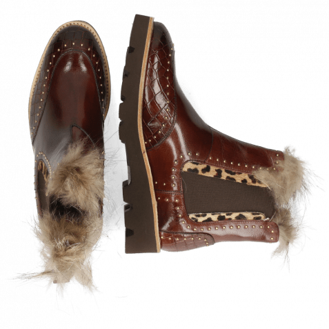 Bottines Daisy 4 Crock Mogano Hairon Tanzania Collar Fur