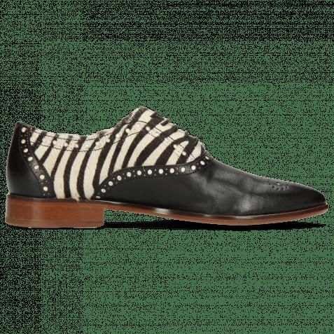 Richelieu Jessy 61 Nappa Black Hairon Zebra Flex