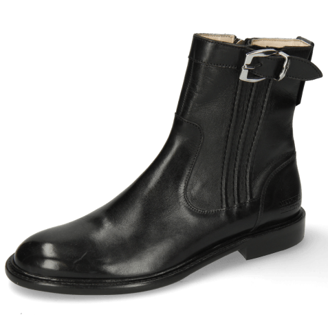 Bottines Sally 85 Black French Nappa Black Strap Sword