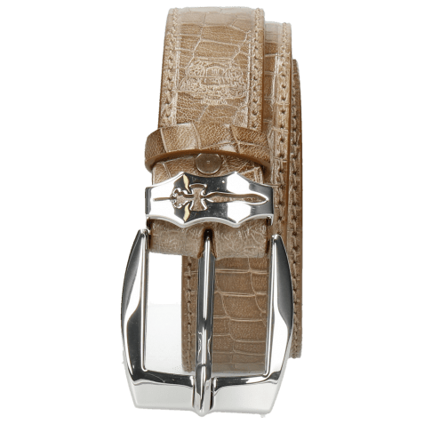 Ceintures Larry 1 Crock Light Grey Sword Buckle