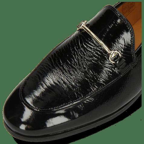 Mocassins Scarlett 22 Soft Patent Black Trim Gold