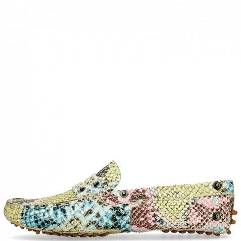 Mocassins Caroline 1 Snake Multi Fuxia Thread Flower