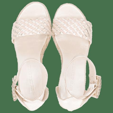 Sandales Abby 2 Cherso Bisque Raffia Rosa