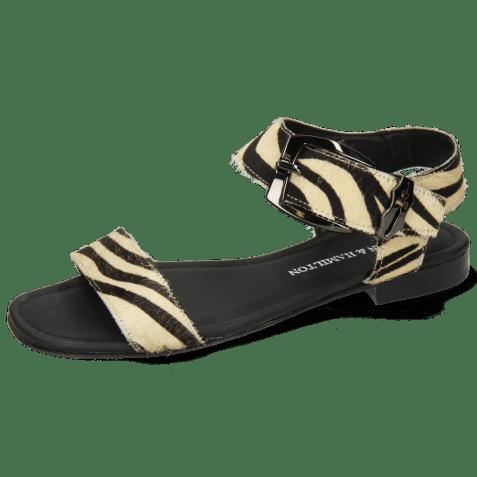Sandales Nikita 7 Hairon Zebra Black White Sword