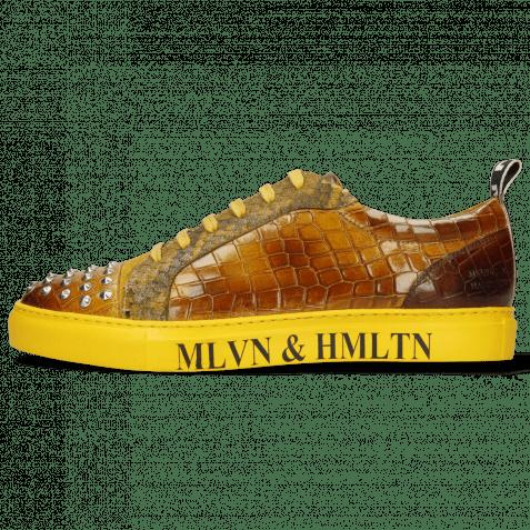 Sneakers Harvey 12 Crock Sun Suede Pattini Snake Indy Yellow