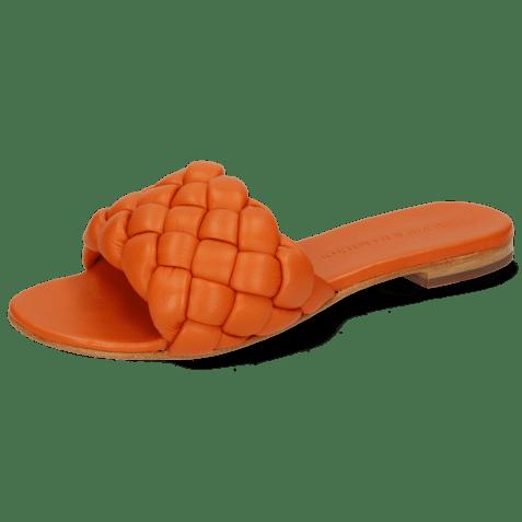 Mules Hanna 78 Nappa Orange Footbed