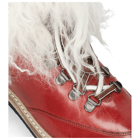 Bottines Amelie 73 Ruby Fur Mongolian White
