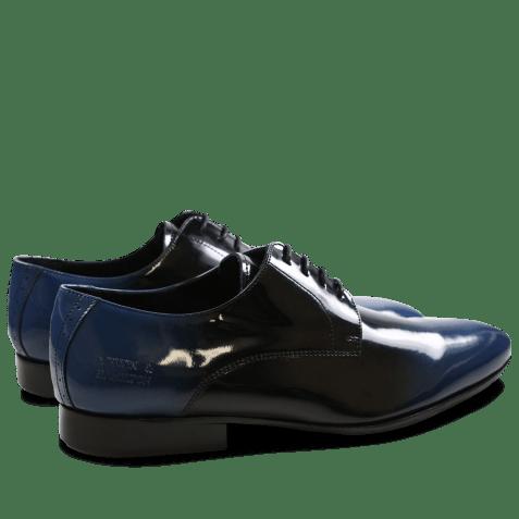 Derbies Paul 5 Patent Black Blue HRS Black