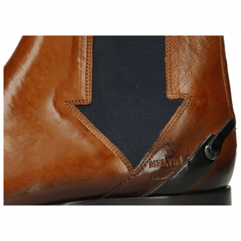 Bottines Lance 19 Pisa Tan Elastic Navy