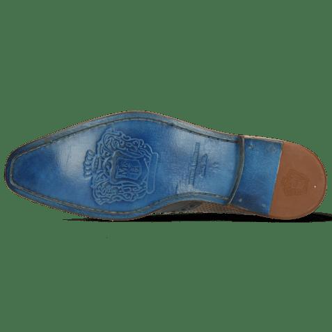 Derbies Martin 15 Berlin Moroccan Blue Perfo Stone