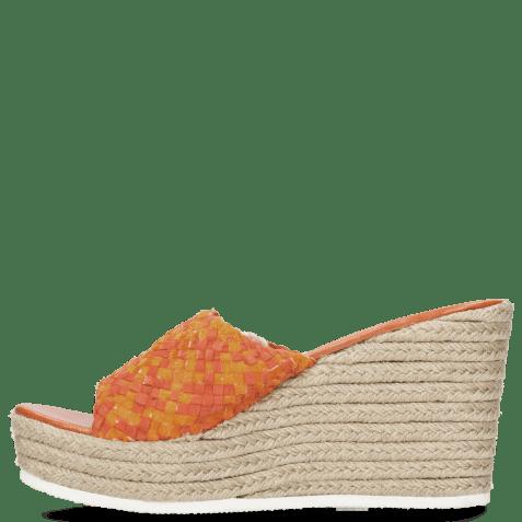 Mules Abby 1 Woven Satin Orange