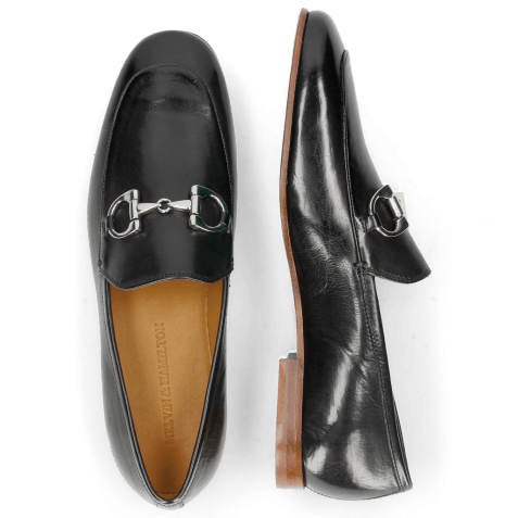 Mocassins Clive 1 Black Lining Rich Tan LS Natural