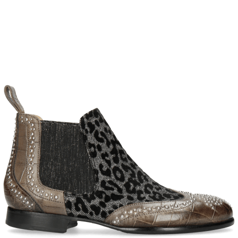 Bottines Sally 45 Turtle Grigio Leo Glitter Gunmetal