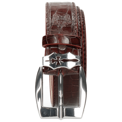 Ceintures Larry 1 Crock Burgundy Sword Buckle