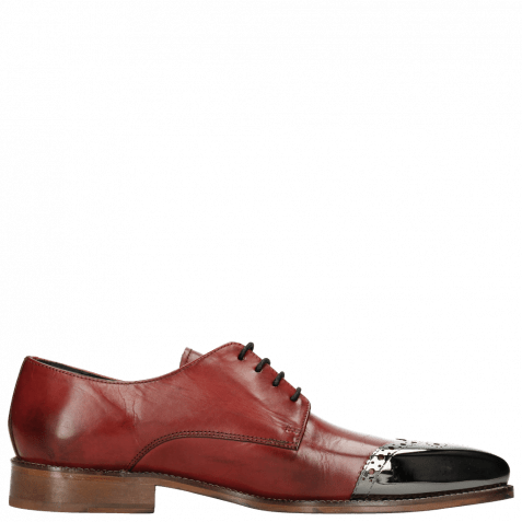Derbies Lance 1 Brilliant Red Metal Toe Cap