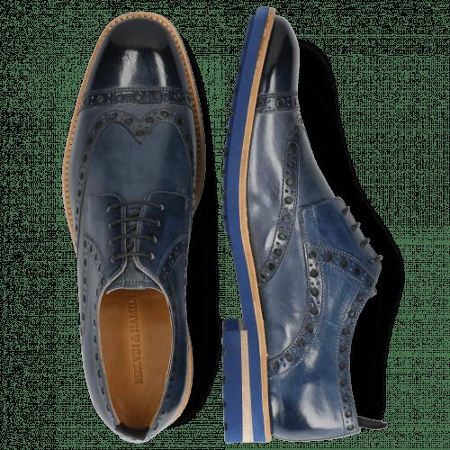 Derby schoenen Eddy 48 Navy Moroccan Blue Wind