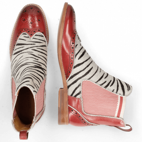 Enkellaarzen Amelie 43 Ruby Hairon Young Zebra Binding Grafi