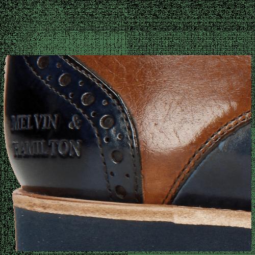 Derby schoenen Amelie 3 Wood Navy