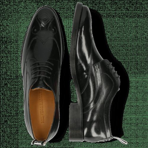 Derby schoenen Betty 16 Black Backstrap