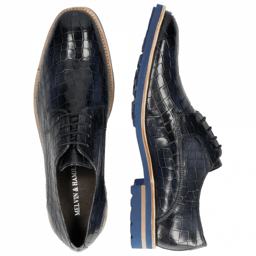 Derby schoenen Eddy 8  Crock Navy Crip Blue