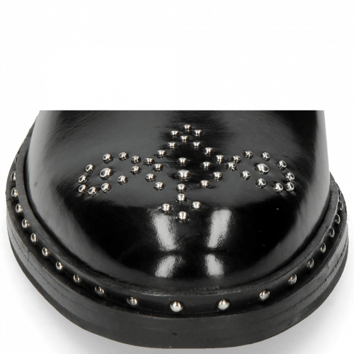 Enkellaarzen Sally 109 Black Rivets