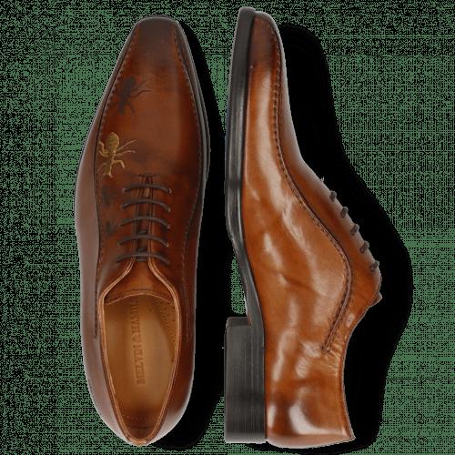 Oxford schoenen Lewis 31 Wood Lasercut Ant Gold