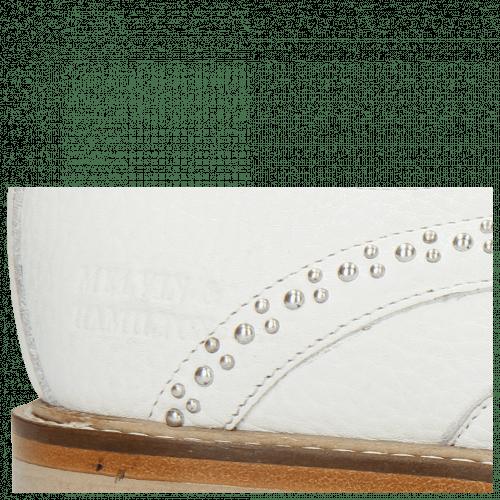Derby schoenen Matthew 4 Milled White Rivets