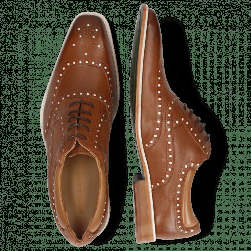 Oxford schoenen Clark 35 Venice Pavia Nappa Tan Nappa Patent White