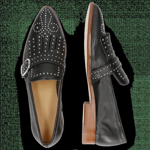 Loafers Jessy 26 Pavia Black Lining Rich Tan