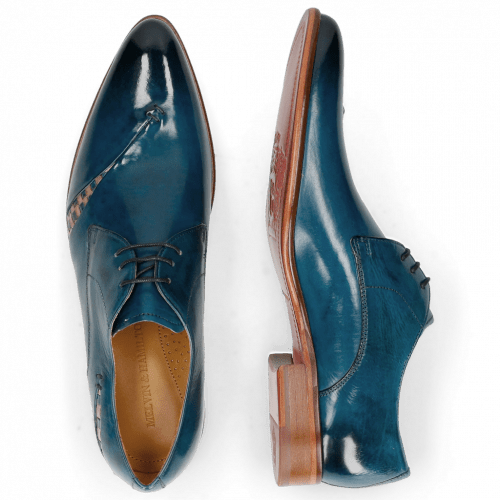 Derby schoenen Toni 40 Mid Blue Woven Nude