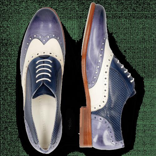 Oxford schoenen Selina 24 Vegas Moroccan Blue White Navy Perfo