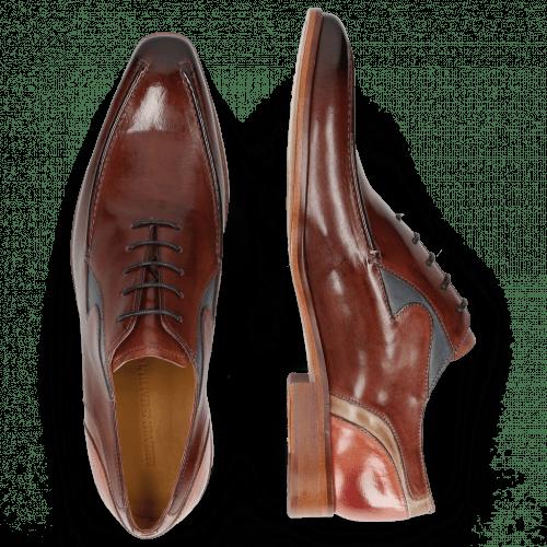 Oxford schoenen Lance 54 Plum Mock Navy Digital Earthly