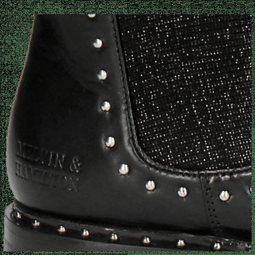 Laarzen Susan 52 Black Stafy Glitter Black Rivets