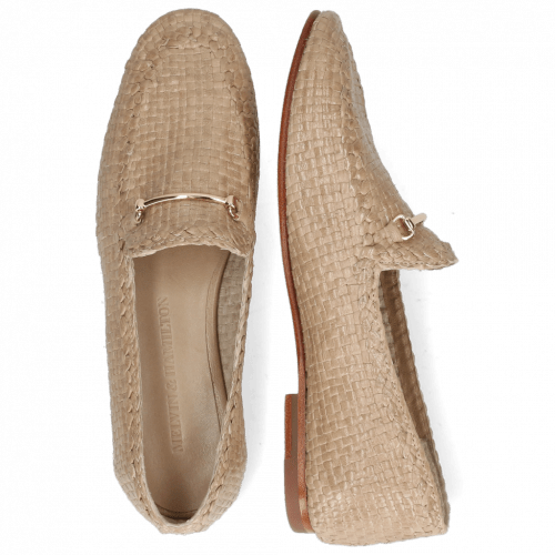 Loafers Aviana 1 Woven Brume Trim Gold
