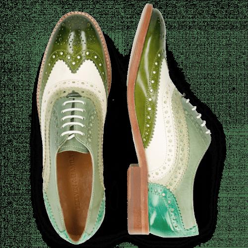 Oxford schoenen Amelie 10 Vegas Ultra Green White Mint Algae Electric Green