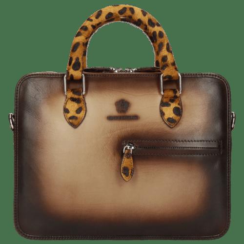 Handtassen Vancouver Taupe Shade Dark Brown Hairon Jaguar