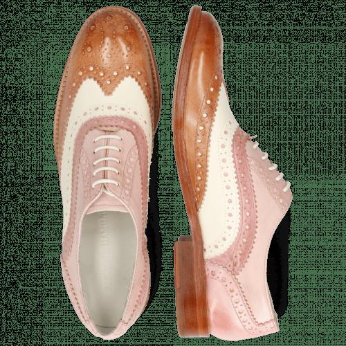 Oxford schoenen Amelie 10 Vegas Light Rose White Pale Rose Skin