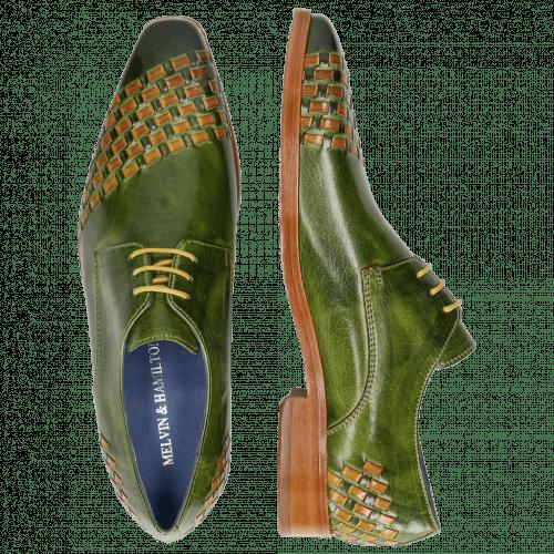 Derby schoenen Lewis 24 Classic Green Interlaced Yellow LS