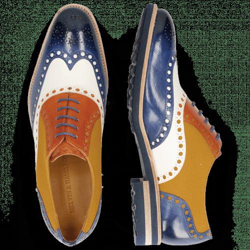 Oxford schoenen Tom 26 Midnight Vegas White Electric Orange