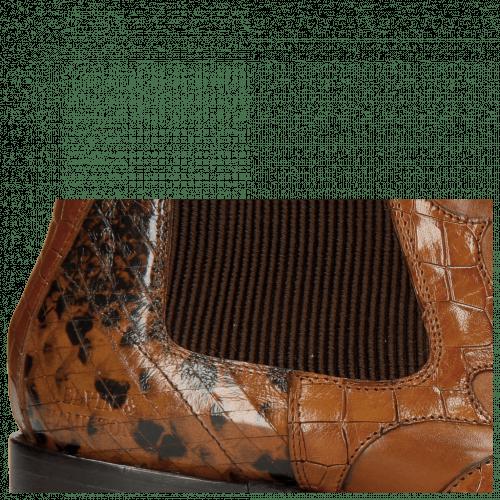 Enkellaarzen Hugo 2 Python Brown Crock Wood Tan
