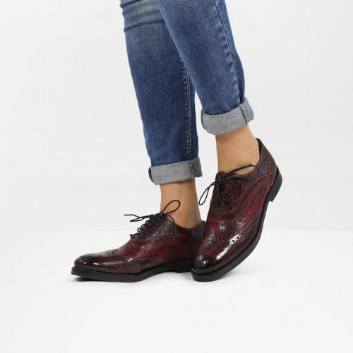 Oxford schoenen Amelie 10 Turtle Wine Phyton Bordo Plum