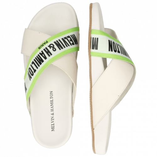Muiltjes Robert 16 Flex White Strap M&H Green