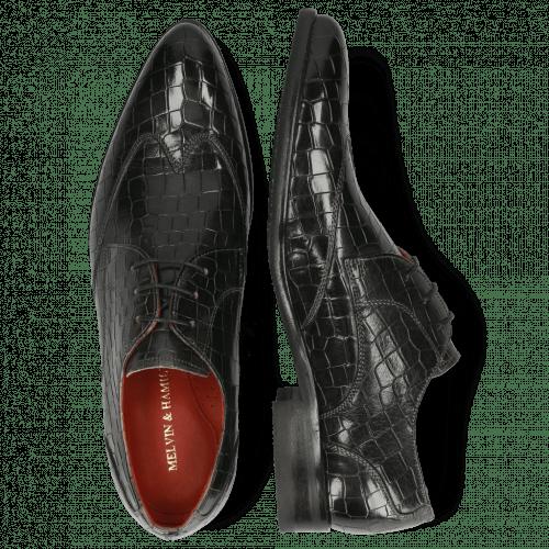Derby schoenen Toni 2 Crock Glicine Lining Red Modica Navy